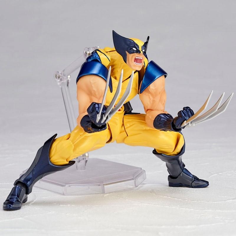 Revoltech Amazing Red Venom Carnage Amazing Captain America Spiderman Magneto Wolverine X-men Action Figures Toy Doll (23)