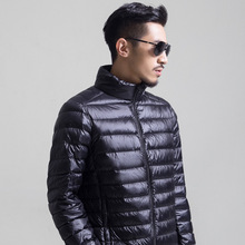 2019 Autumn Winter mens White duck down jacket light and thi