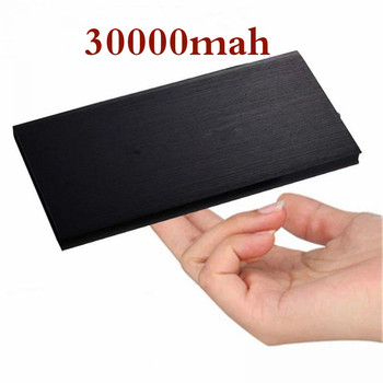 Ultra-thin Polymer Dual USB Power Bank 30000mAh Portable Powerbank External Battery Charger For Xiaomi Mi Mobile Phones Tablets