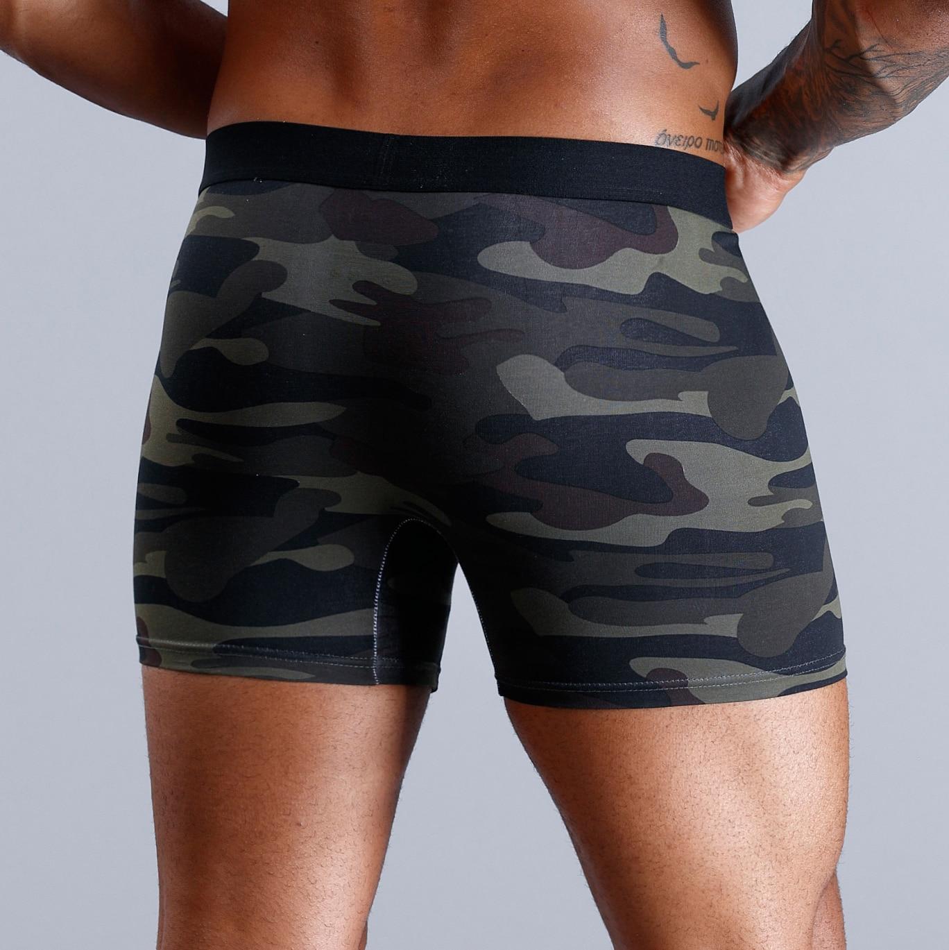 SKARR Camouflage Boxer Men Underwear Men Boxer Shorts Boxershorts Men Underwear Boxers Calvin Sexy Cotton Underpants Trunk Plus