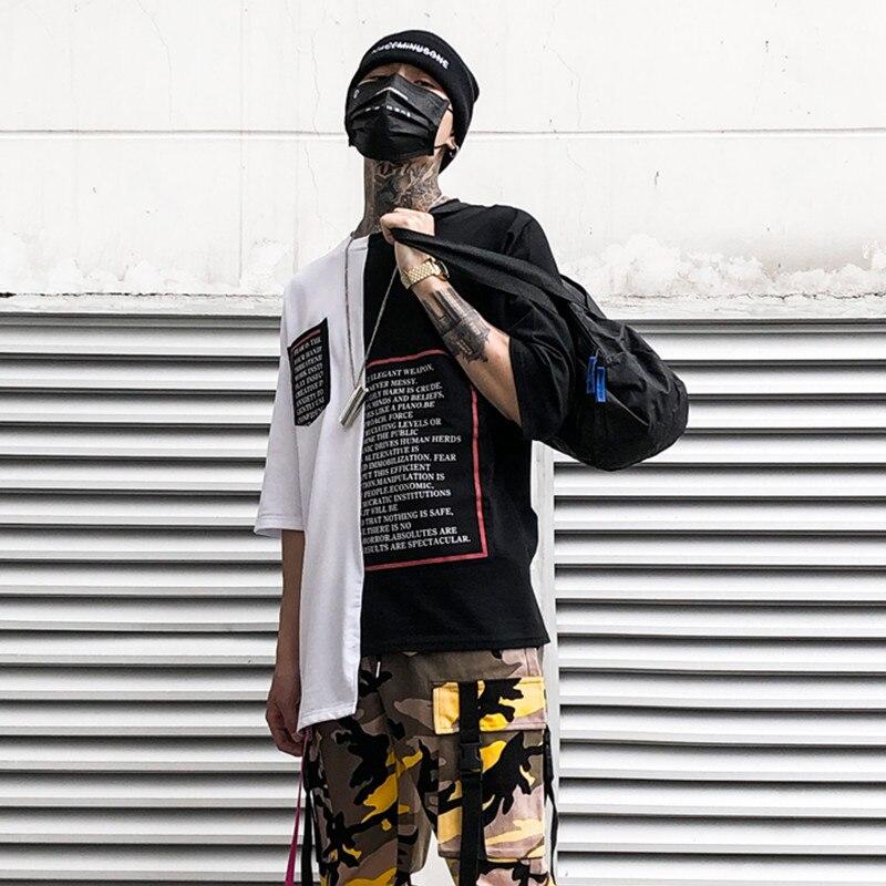 2020 Summer Hip Hop Men T Shirt Half Sleeve Irregular Letter Printing Funny Mens T Shirts Cotton Short Sleeve Casual Tee Shirt