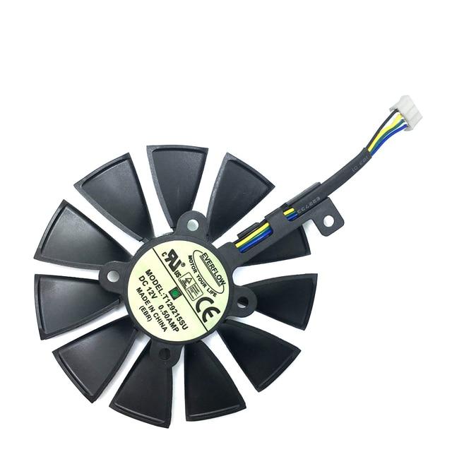 Новинка, вентилятор 87 мм T129215SU для ASUS GTX1060 1070 Ti RX 470 570 580, графическая карта, охлаждение ПК, постоянный ток 12 В, GPU Cooing, видеокарта coolerrs
