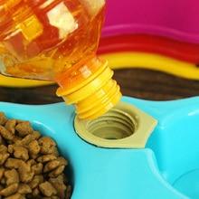 CAWAYI KENNEL 1pcs Dual Port Dog Automatic Water Dispenser Feeder Utensils Bowl Cat Drinking Fountain Food Dish Pet Bowl D0075