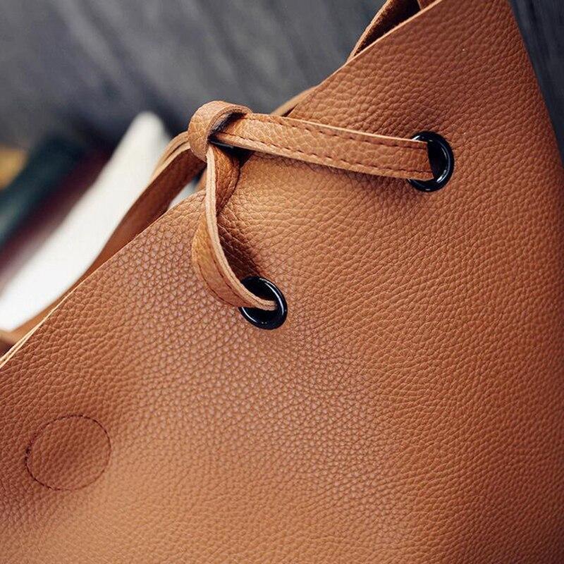 d95bedec5a Cuir souple femmes sac ensemble marque de luxe 2019 créateur de mode femme  sacs à bandoulière grands sacs décontractés ensemble sac à main de haute  qualité ...