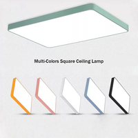 [DBF]Multi Colors Square Ceiling Lights for living room bedroom 5cm height LED Ceiling Lamp Dimmable Color Fixtures Lustre