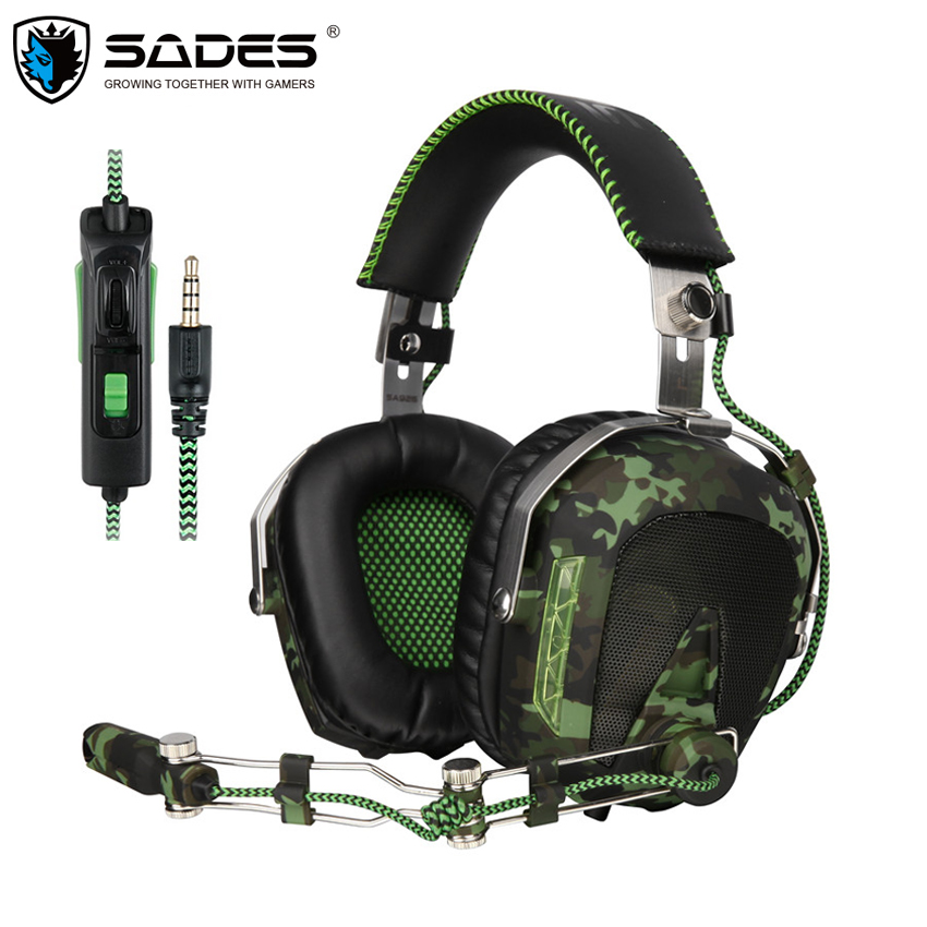 SADES SA926T PS4 Headset casque Wired Stereo Gaming Headphones with Microphone for New Xbox One Mobile Phone Mac Laptop PC xiberia v10 gaming headphones for a mobile phone ps4 new xbox one pc gamer 3 5mm wired bass headset head phone with microphone