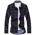 2017 новый стиль мужчины рубашки М-5XL 6XL 7XL клетчатую рубашку мужчины повседневная рубашка мужчины camisas социальной masculina camisas hombre vestir BA03