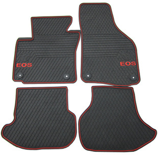 dedicated wear thick rubber mat to clean the original send bridge snaps car floor carpets for VolkswagenEOS
