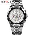 Limited! WEIDE Men's Sports Watches Military Full Steel Quartz Luxury Famous Brand Men Watch New 30 Meters Waterproof Wristwatch
