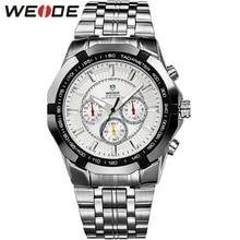 Limitado! WEIDE hombres Deportes Relojes de Cuarzo Famosa Marca de Lujo de Los Hombres Reloj de Acero Llena Militar Nuevo 30 Metros Reloj Impermeable
