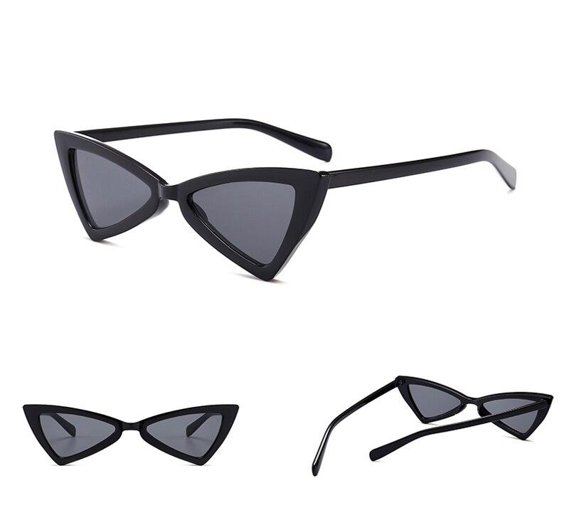 5b5a0afd3c1 Peekaboo red triangle sunglasses women cat eye vintage black leopard ...
