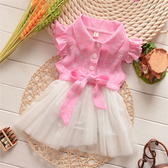78b29ab68fb9 Newborn Kids Baby Girls Floral Bowknot Tulle Tutu Princess Party Dress  Sundress Cute Floral Lace Girl