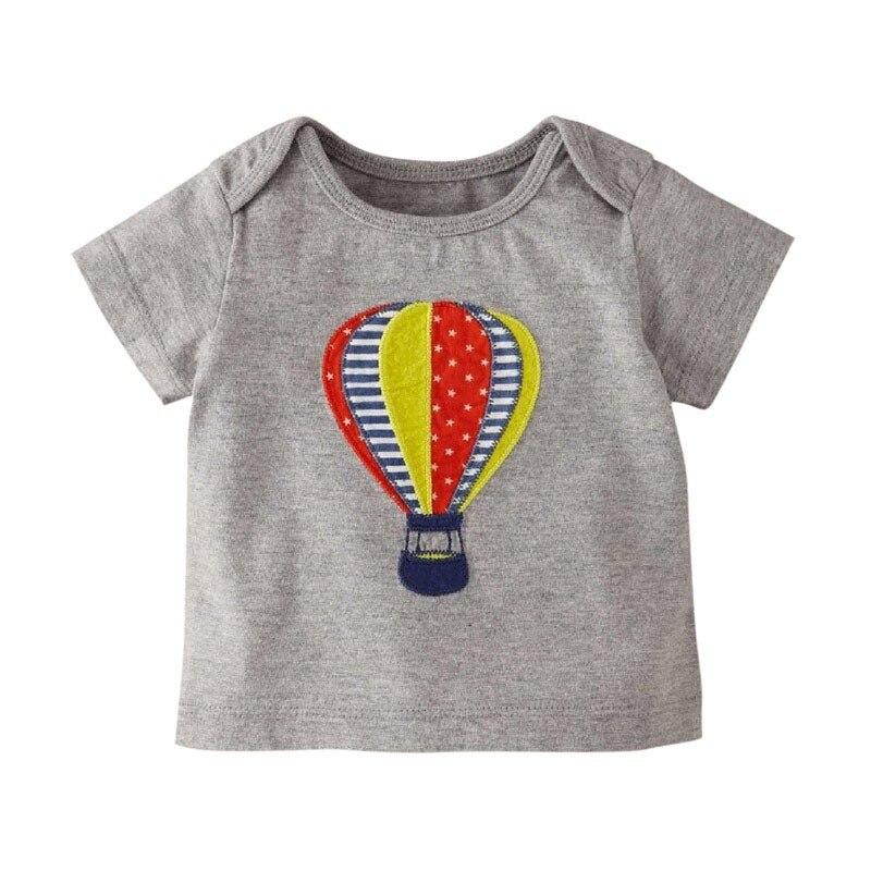 d86c064cb4b3f0 Summer Top Baby Boy Clothes Girl Tops Cotton Cartoon Motif Car Hot ...