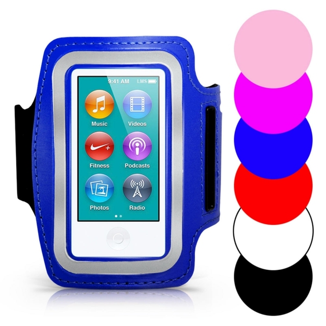 ce1afd492 Brazalete para Ipod Nano 7 correa de muñeca deportiva reflectante gimnasio  bolsa brazo banda para Apple