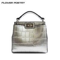 Luxury Alligator Bucket Bag Women Handbag Spain Designer High Quality PU Leather Small Shoulder Crossbody Bags