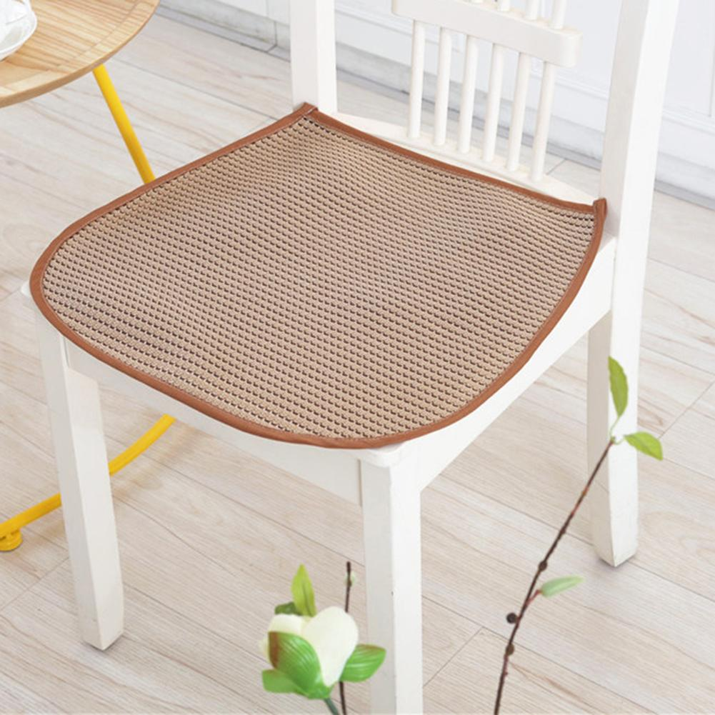1pcs Seat Pad Breathable Mesh Ice Silk Cool Summer Front Seat Mat Non Slip Pads Chair Universal
