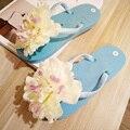 Moda boemia das mulheres chinelo sapatos sandálias flor original sandália flip flop sandálias de praia para férias de verão