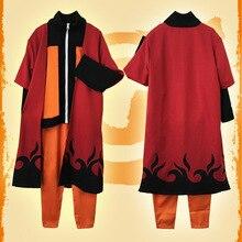 Аниме Наруто Косплей Костюм Узумаки Наруто наряд взрослых мужские костюмы японские мультяшные костюмы Наруто плащ топ брюки