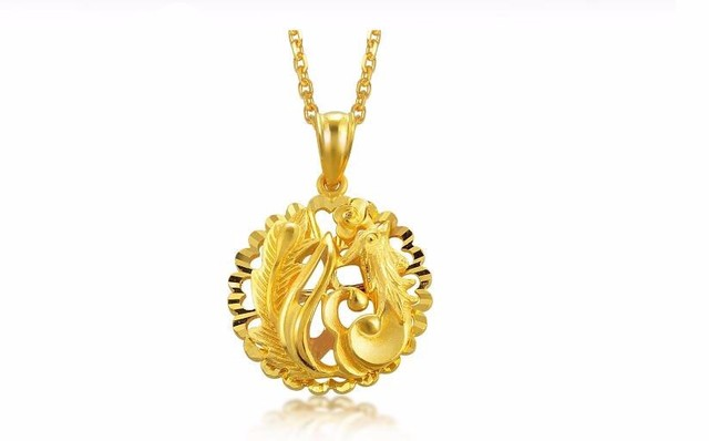 New authentic 999 24k yellow gold phoenix pendant 392g in pendants new authentic 999 24k yellow gold phoenix pendant 392g aloadofball Images