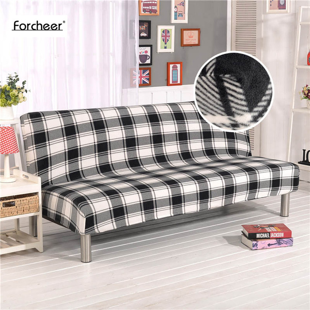 Us 41 72 Plaid Muster Dicken Plusch Sofa Abdeckung Winter All Inclusive Stretch Mobel Hussen Ohne Armlehne Klappsofa Abdeckung 1 Stuck In Plaid