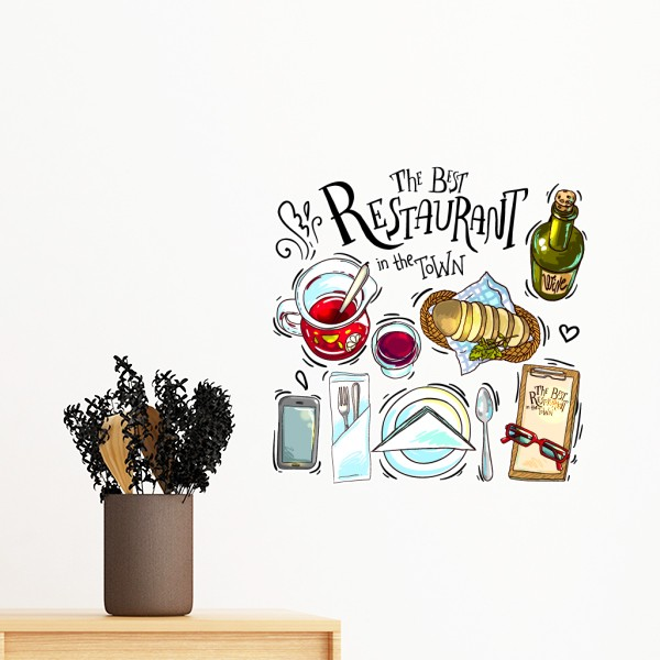 Us 9 0 The Best Restaurant In The Town Wins Removable Wall Sticker Art Decals Mural Diy Wallpaper For Room Decal In Wall Stickers From Home Garden