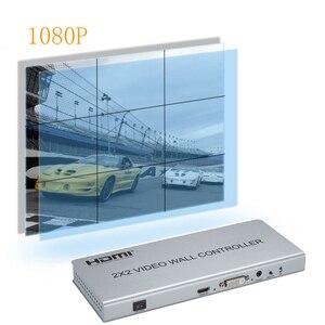 Image 4 - Novo 2x2 controlador de parede de vídeo 1 hdmi/dvi entrada 4 saída hdmi 1080 p processador de vídeo suporte 1x2/2x1/3x1/1x4/4x1 com rs232
