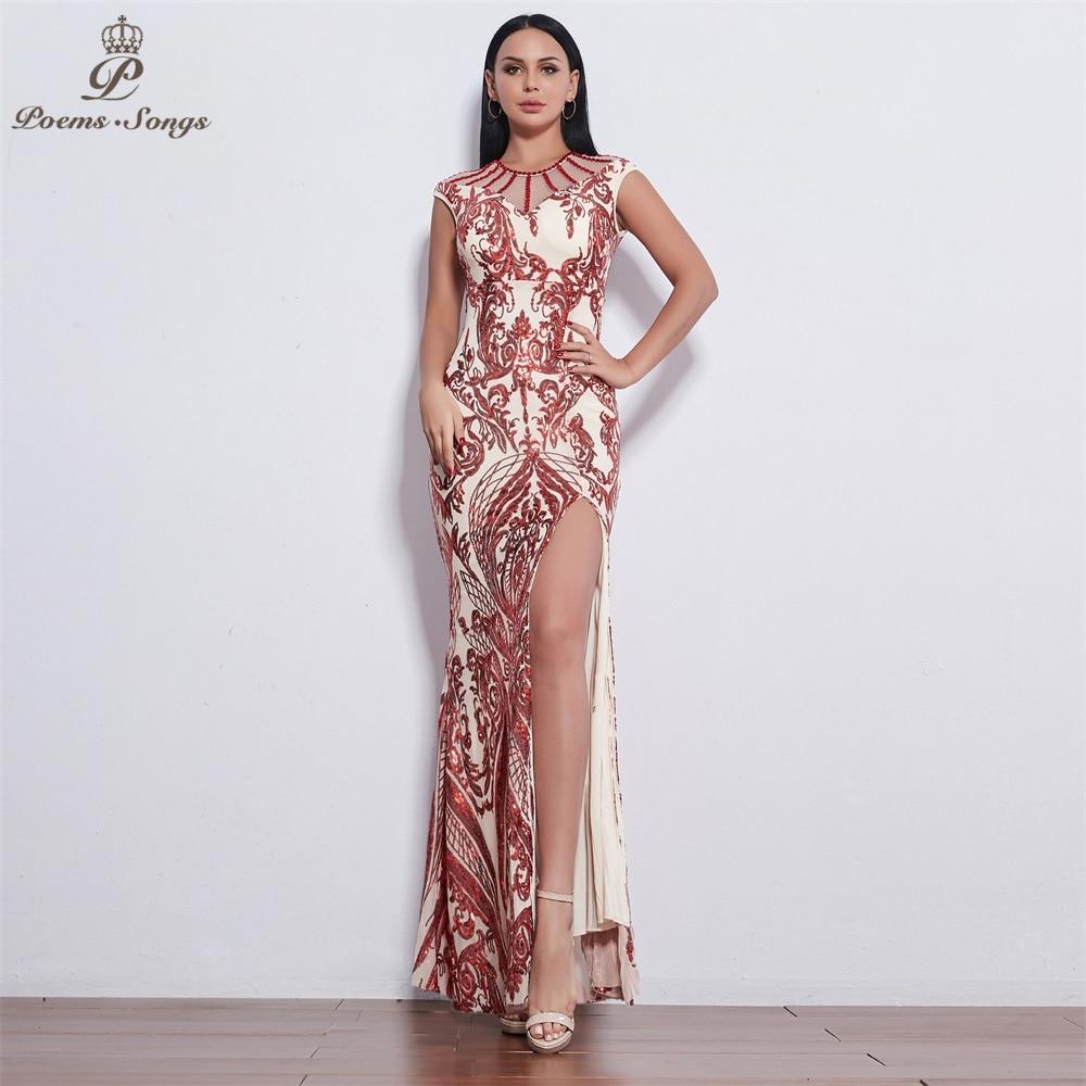 Poems Songs New Sexy Style Evening dresses long vestido de festa longo prom dress robe de