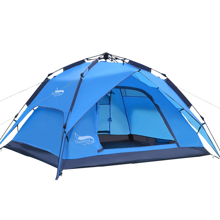 Outdoor 3 Man Camping Hiking Tent Doulbe Layer Waterproof Sun Shelter Pop up Tent UV 3.8KG Backpacks Tent Picnic Tent Party high quality outdoor 2 person camping tent double layer aluminum rod ultralight tent with snow skirt oneroad windsnow 2 plus
