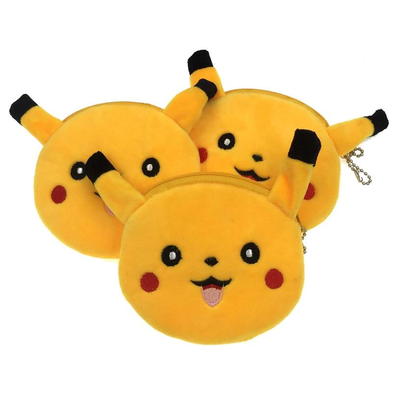 ALIEME Cartoon Coin Purse Pokemon Pikachu Animals Hello Kitty Girls Plush Mini Wallet Change Wallet Women Key Coin Children Kids