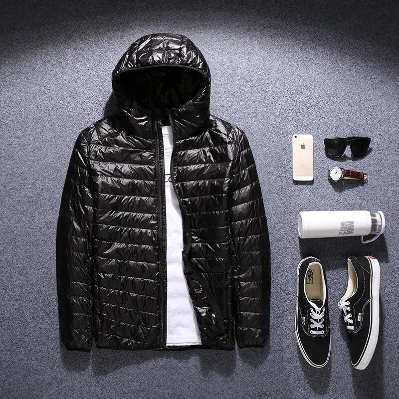 Zima płaszcz puchowy męskie plus rozmiar w dół kurtki 2017 mężczyźni odzież wierzchnia bardzo duży czarny czerwony niebieski M L XL 2XL 3XL 4XL 5XL 6XL 50 kg 145 kg w Kurtki puchowe od Odzież męska na  Grupa 1
