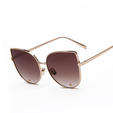 Newest Elegant Sunglasses Cat Eye Sun Glasses Women Luxury Brand Designer Alloy Frame Women Glasses Female Sunglass
