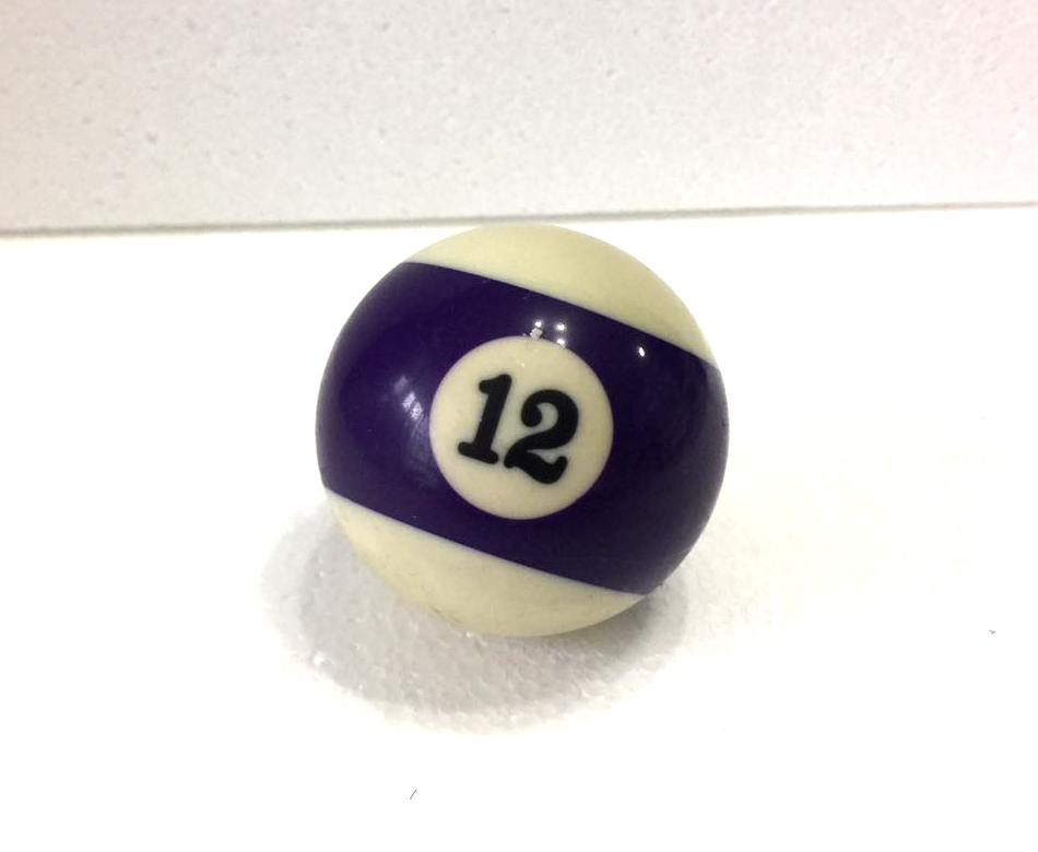 Free Shipping 1pcs NO.12 Pool Snooker Billiard Table Cue NO.12 Ball 2-1/4