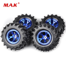 4Pcs/Set Bigfoot Monster Tires and Rims with 12mm Hex fit 1:10 Scale HSP HPI Racing Car Parts Accessories