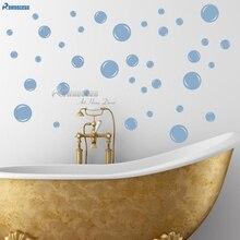 56 BUBBLES BATHROOM SHOWER ROOM WALL STICKERS different sizes BUBBLE REMOVABLE VINYL DECALS Tile Home Decoration DECOR Y11