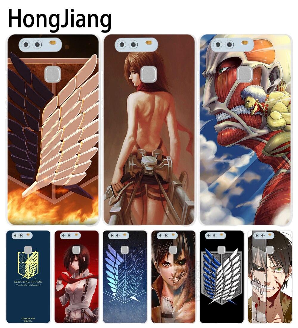 HongJiang <font><b>Anime</b></font> Japanese attack on Titan Cover <font><b>phone</b></font> <font><b>Case</b></font> for huawei Ascend P7 P8 P9 P10 lite plus G8 G7 <font><b>honor</b></font> 5C 2017