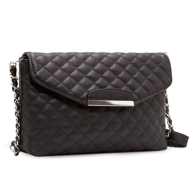 1pcs Small Boho Handbags Women S Faux Pu Leather Chain Plaid Clutch Handbag Purse Single Crossbody