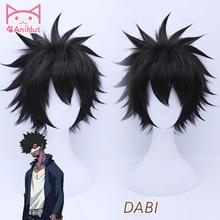 【Anihut】dabi私のヒーロー学界コスプレウィッグ合成黒髪アニメ僕なしヒーロー学界コスプレウィッグdabi毛耐熱