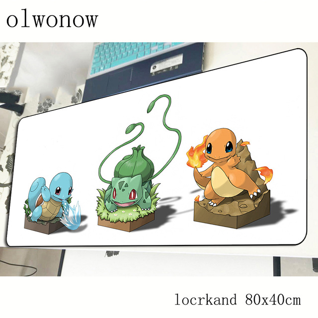 pokemons mouse pad 80x40cm Cartoon mousepads best gaming mousepad gamer Aestheticism personalized mouse pads keyboard pc pad 1