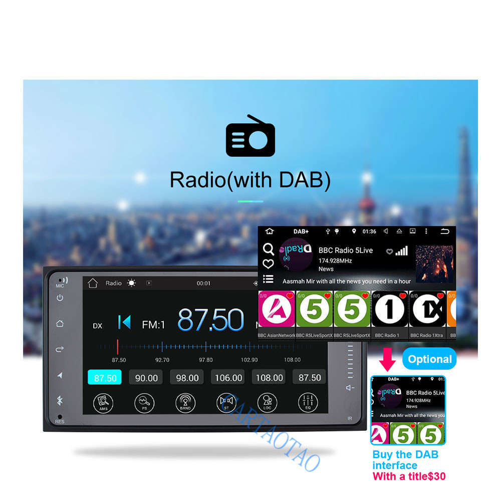 2 din android reproducteur multimédia BT GPS radio 7 pulgadas adapté forToyata Camry/VIOS/CORONA/Altis/corolle 200 MM * 100 MM - 4