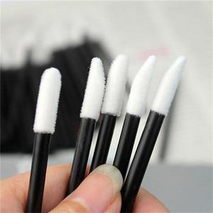 Одноразовые кисти для губ, 50 шт/100 шт, ватные тампоны для макияжа, кисть для губной помады, блеск, чистка, косметические аппликаторы для макияжа