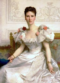 Canvas Paintings for living room Madame la Comtesse de Cambaceres William Adolphe Bouguereau High quality Hand painted