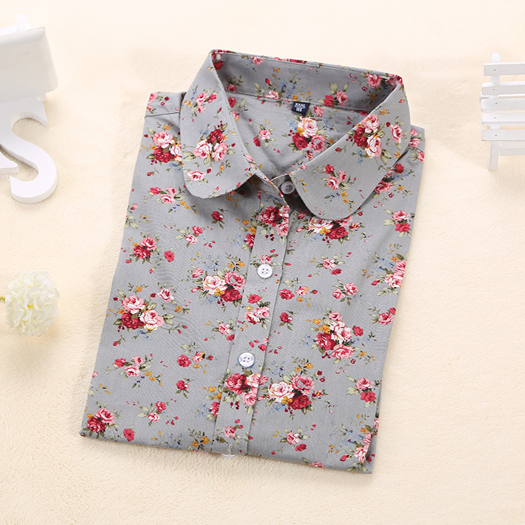Aliexpress.com : Buy Women Floral Shirts Long Sleeve Print Cotton ...