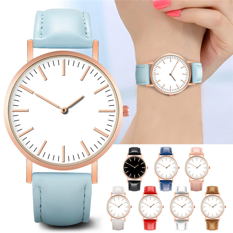 Stylish Luxury Women Watches Leather Band Quartz Wristwatch Simple Daily Dial Casual Bracelet Ladies Watch Chic Montre Femme *AStylish Luxury Women Watches Leather Band Quartz Wristwatch Simple Daily Dial Casual Bracelet Ladies Watch Chic Montre Femme *A