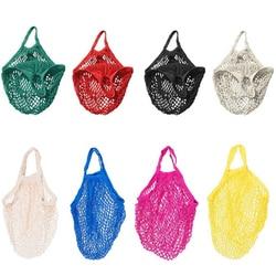 ISKYBO Mesh Shopping Bag Reusable String Fruit Storage Handbag Totes Women Shopping Mesh Net Woven Bag Shop Grocery Tote Bag