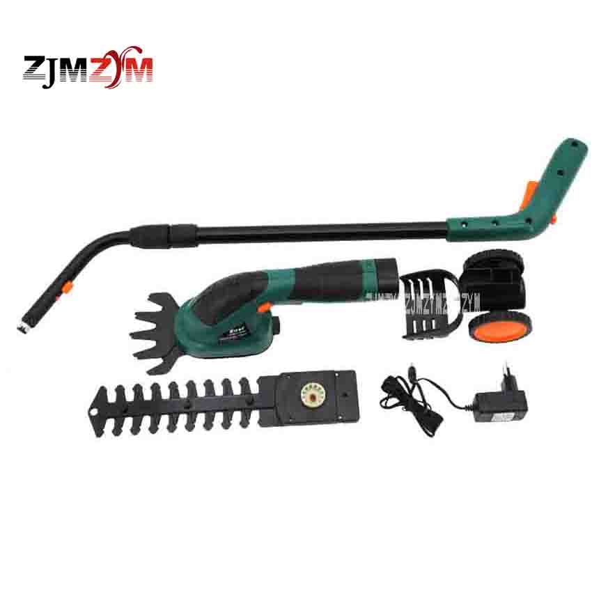 Multi-function Rechargeable Grass Cutting / Pruning Machine Electric Lawn Mower Hedge Trimmer ET1502 1000 / MIN 7.2V 3-5 Hours new arrival electric home lawn mower et2803 8000 r min electric weeding machine 18v rechargeable lawn mower cutting machine hot