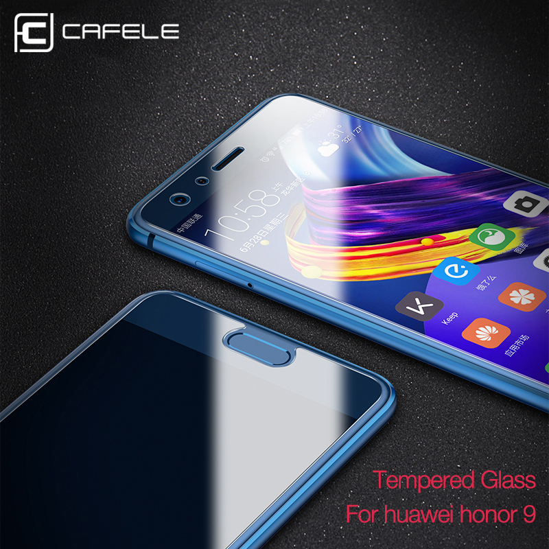 CAFELE Screen Protector For Huawei Honor 8 9 10 p20 pro p8 lite 2017 2 5D Tempered Glass HD Clear 2 5D Edge Anti blue Glass Film in Phone Screen Protectors from Cellphones Telecommunications