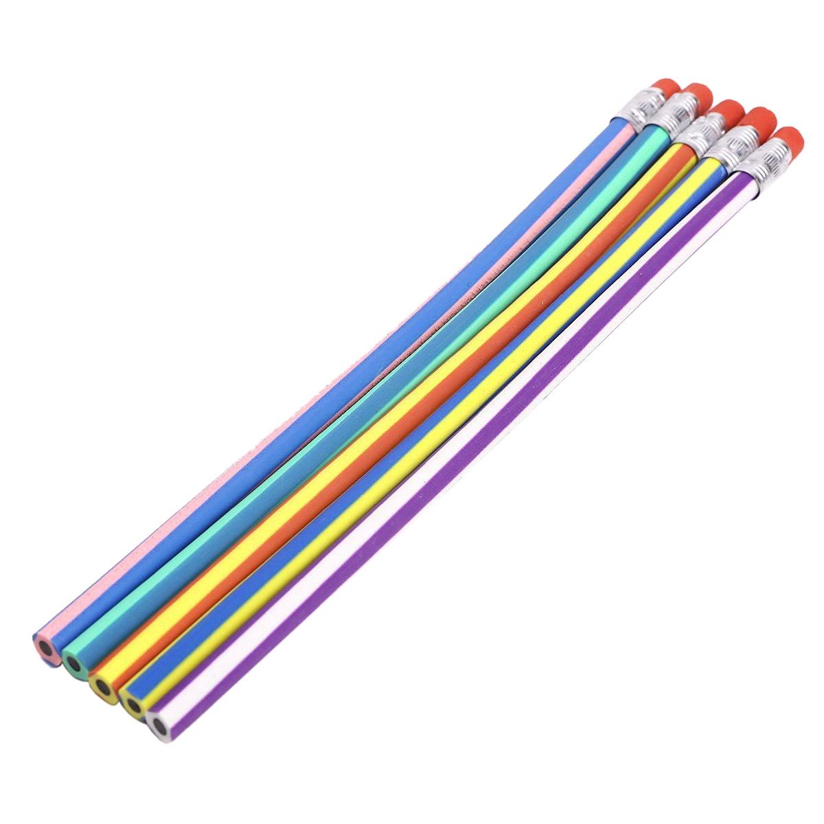 Paquet de 10 (50 pièces Souple Bendy Crayons Magique Plier Enfants Enfants École Équipement Amusant