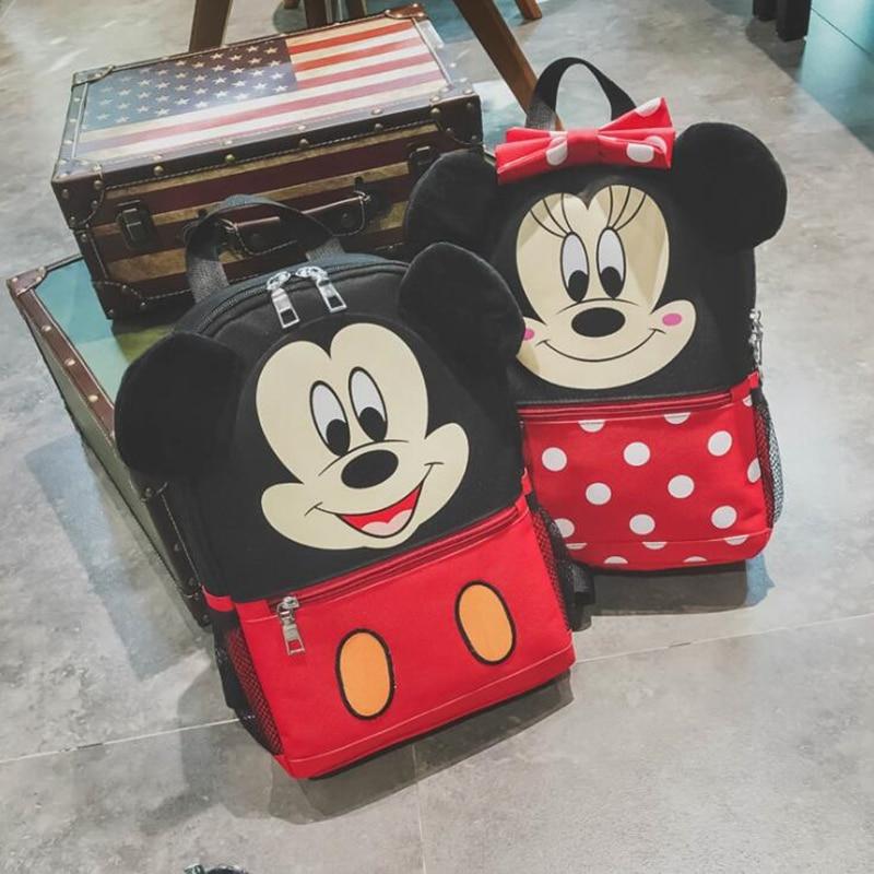 2018 Baby Cartoon Minnie Mickey School Bags For Girls Kindergarten Preschool Backpacks Boys Bags Kids Satchel Toddler Snacks Bag
