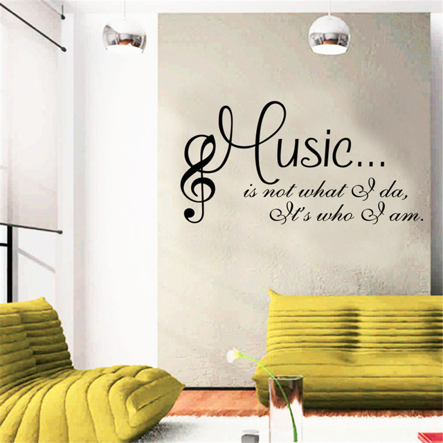 Personalized Fashion Wordart Sentence Music Dance Studio Wall Decals Living Room Bedroom Removable Stickers