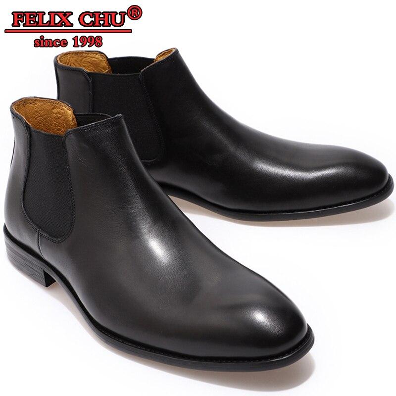 Chaussures de luxe pour hommes bottines CHELSEA chaussures haute main pour hommes bottes STYLE britannique sans lacet chaussures noires pour hommes en cuirChaussures de luxe pour hommes bottines CHELSEA chaussures haute main pour hommes bottes STYLE britannique sans lacet chaussures noires pour hommes en cuir